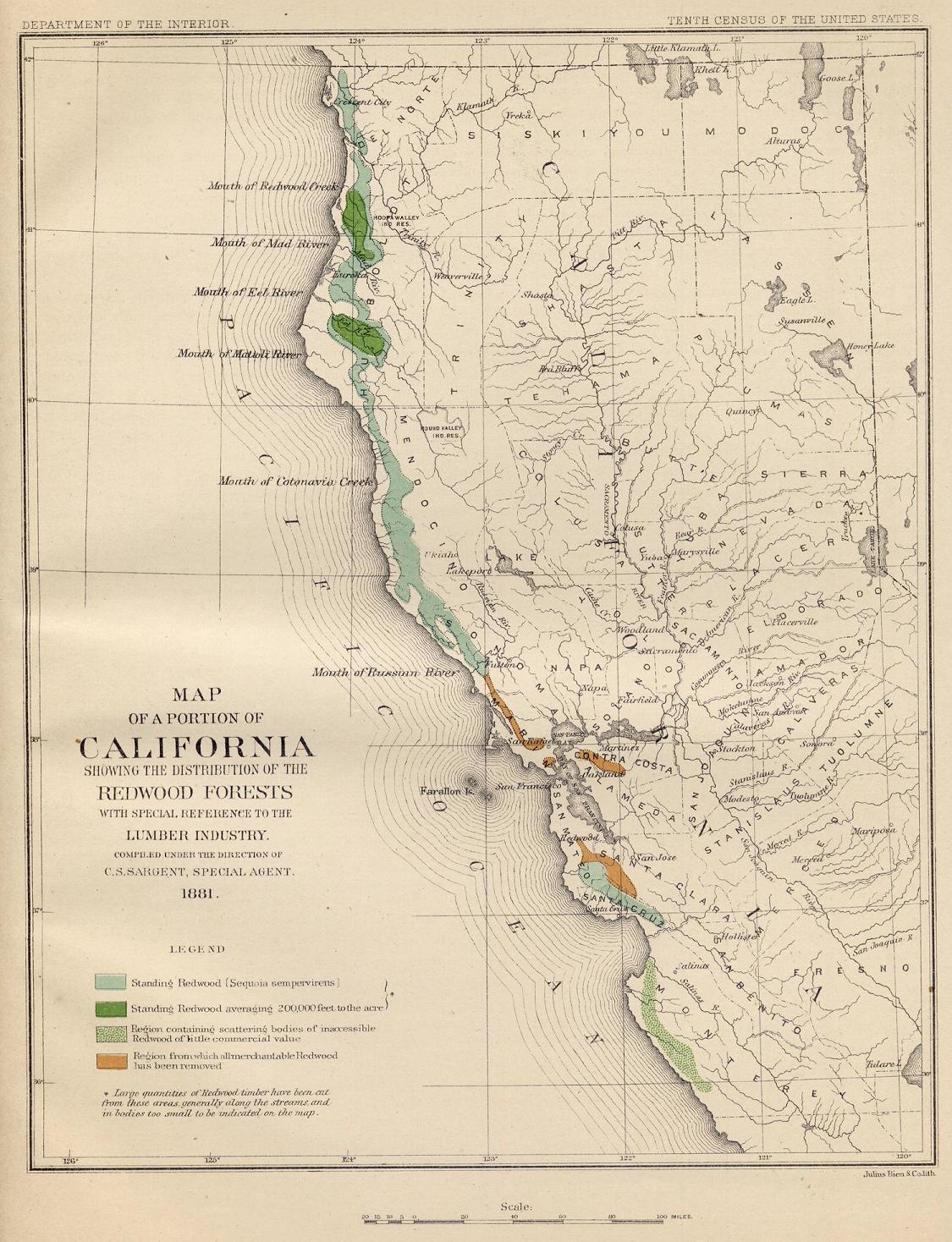 Coast Redwood Range and Biogeography on